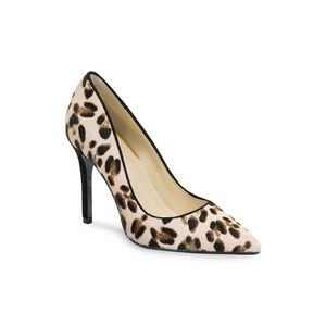 GUESS Blixely Leopard-Print Pony Hair Pumps